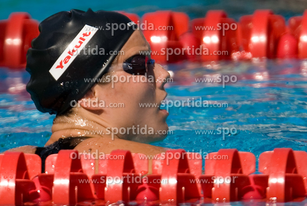 Tanja Smid of Slovenia competes in the Women's 100m Breaststroke Heats during the 13th FINA World Championships Roma 2009, on July 27, 2009, at the Stadio del Nuoto,  in Foro Italico, Rome, Italy. (Photo by Vid Ponikvar / Sportida)