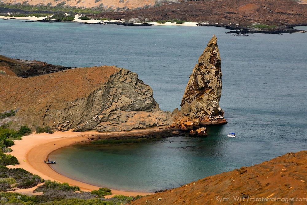Pinnacle Rock of Bartholomew Island in the Galapagos, Ecuador, South America.