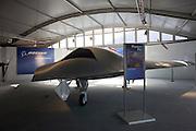 Boeing's Phantom Ray UAS at the US company's chalet Farnborough Airshow.