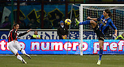 "Assist of Zlatan Ibrahimovic for Adriano goal.Milano 15/2/2009 Stadio ""Giuseppe Meazza"".Campionato Italiano Serie A.Inter Milan."