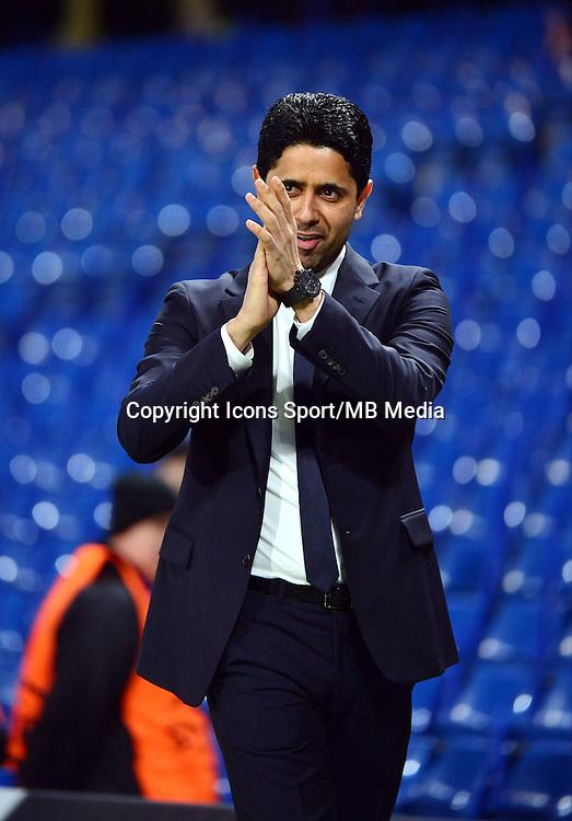 Nasser AL KHELAIFI - 11.03.2015 - Chelsea / Paris Saint Germain - 1/8Finale retour Champions League<br /> Photo : Dave Winter / Icon Sport