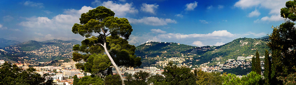 A Panoramic image of the hills around Nice, in the South of France