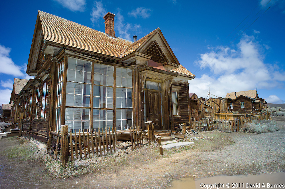 .J.S. Cain residence in Bodie, California, USA. An old gold mining town, now a ghost town.
