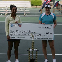 during the finals of singles competition at the AT&T$25,000 Challenger USTA Pro Women's Tennis Circuit Tournament played on March 30, 2008 at Oak Knoll Country Club in Hammond, LA.