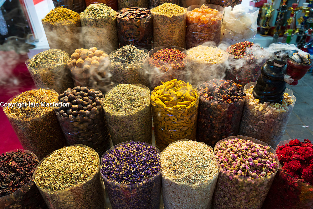 Spices on sale at Dubai Souk inn Dubai, united Arab Emirates