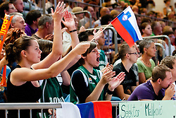 Fans at exhibition game between Slovenia and Poland for Primus Trophy 2011Lithuania as part of exhibition games before European Championship L2011on July 23, 2011, in Ljudski Vrt, Ptuj, Slovenia. (Photo by Matic Klansek Velej / Sportida)