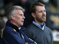 Bristol Rovers Manager, John Ward talks to Burton manager Gary Rowett- Photo mandatory by-line: Matt Bunn/JMP - Tel: Mobile: 07966 386802 23/11/2013 - SPORT - Football - Burton - Pirelli Stadium - Burton Albion v Bristol Rovers - Sky Bet League Two