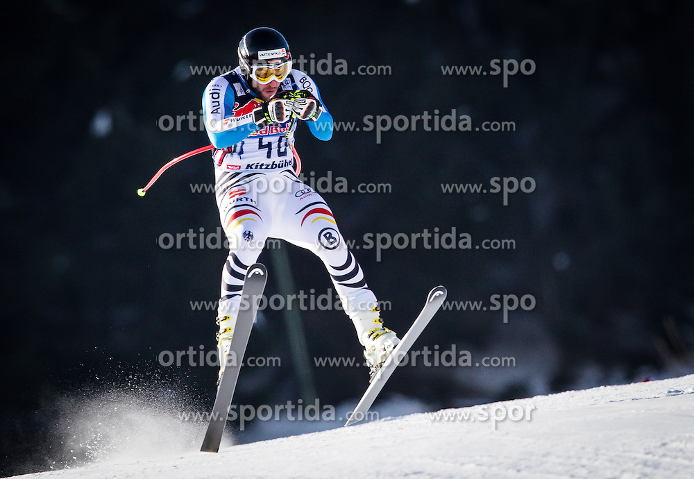 24.01.2013, Streif, Kitzbuehel, AUT, FIS Weltcup Ski Alpin, Abfahrt, Herren, 3. Training, im Bild Stephan Keppler (GER) // Stephan Keppler of Germany in action during 3th practice of mens Downhill of the FIS Ski Alpine World Cup at the Streif course, Kitzbuehel, Austria on 2013/01/24. EXPA Pictures © 2013, PhotoCredit: .EXPA/ Juergen Feichter