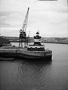 Views - North Wall Lighthouse, Dublin.01/02/1957