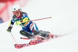 "Riikka Honkanen (FIN) in action during 1st Run of the FIS Alpine Ski World Cup 2017/18 7th Ladies' Slalom race named ""Golden Fox 2018"", on January 7, 2018 in Podkoren, Kranjska Gora, Slovenia. Photo by Ziga Zupan / Sportida"