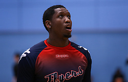 Fred Thomas of Bristol Flyers during the warm up - Photo mandatory by-line: Arron Gent/JMP - 02/11/2019 - BASKETBALL - Surrey Sports Park - Guildford, England - Surrey Scorchers v Bristol Flyers - British Basketball League Cup