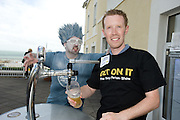 Mark Finlay from Kilkenny pulls his own Pint at the Budweiser Ice Cold Summer BBQ, broadcast live on the Tony Fenton Show at The Galway Bay Hotel in Salthill. Photo:Andrew Downes.. .Both Duke Special and The Divine Comedy performed at the summer kick-off party and Today FM's Tony Fenton Show broadcast live from the hotel all afternoon...The 150 invited guests included Today FM listeners ad Budweiser Ice Cold Facebook fans from all over the country. Guests also won the chance to win a cool Grand in cash, meet Mr. Iceman and of course enjoy a pint of Budweiser Ice Cold, the coldest pint ever!..Enjoy Budweiser Ice Cold sensibly visit www.drinkaware.ie ..This event was strictly over 18's,..-ENDS-..FOR FURTHER INFORMATION PLEASE CONTACT:.Killian Burns / Aoiffe Madden..Killian.burns@ogilvy.com / aoiffe.madden@ogilvy.com.WHPR..Tel: 01 6690030.