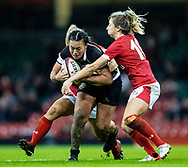 Ariana Hira of Barbarians under pressure from Elinor Snowsill of Wales<br /> <br /> Photographer Simon King/Replay Images<br /> <br /> Friendly - Wales v Barbarians - Saturday 30th November 2019 - Principality Stadium - Cardiff<br /> <br /> World Copyright © Replay Images . All rights reserved. info@replayimages.co.uk - http://replayimages.co.uk