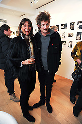 COUNTESS DEBONAIRE VON BISMARCK and her son COUNT NIKOLAI VON BISMARCK at a private view of photographs by Nick Ashley held at the Sladmore Gallery, 32 Bruton Place, London on 13th January 2010.