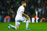 Leeds United midfielder Mateusz Klich (43) reacts during the EFL Sky Bet Championship match between Leeds United and West Bromwich Albion at Elland Road, Leeds, England on 1 October 2019.