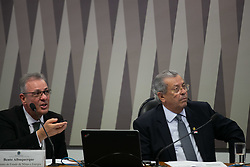 March 26, 2019 - BrasíLia, Brazil - BRASÍLIA, DF - 26.03.2019: MINISTRO MINAS ENERGIA BENTO ALBUQUERQUE - Bento Albuquerque Minister of Mines and Energy with chairman of the board Jayme Campos at the Infrastructure Services Committee (CI) of the Federal Senate to clarify priority issues of the portfolio on Tuesday, 26. (Credit Image: © Myke Sena/Fotoarena via ZUMA Press)