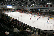 RIT's  Gene Polisseni Center hosts a game between RIT's men's hockey team and St. Lawrence University in Rochester, New York on Friday, October 10, 2014.