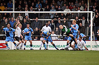 Photo: Mark Stephenson/Richard Lane Photography. <br /> Hereford United v Wycombe Wanderers. Coca-Cola League Two. 15/03/2008. Wycombe's Dave McCracken clears the ball