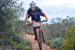 WORCESTER, SOUTH AFRICA - MARCH 21: Samuele Porro during stage three's 122km from Robertson to Worcester on March 21, 2018 in Cape Town, South Africa. Mountain bikers from across South Africa and internationally gather to compete in the 2018 ABSA Cape Epic, racing 8 days and 658km across the Western Cape with an accumulated 13 530m of climbing ascent, often referred to as the 'untamed race' the Cape Epic is said to be the toughest mountain bike event in the world. (Photo by Dino Lloyd)