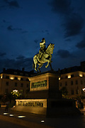 Statue of Joan of Arc in the city centre, Place du Martroi, Orleans, France