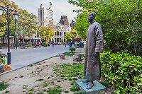 statue of pedestrian way of duolon road at the city of Shanghai in China