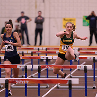 Molly Yungmann in action during the 2018 Canada West Track & Field Championship on February  23 at James Daly Fieldhouse. Credit: Arthur Ward/Arthur Images
