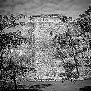 Uxmal # 7         Templo del Adivino. Uxmal. Yucatan, Mexico.