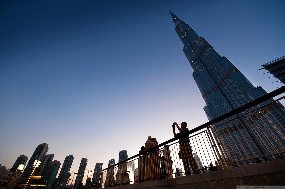 Dubai, UAE, Feb 07, 2010, Burj Khalifa. PHOTO © Christophe Vander Eecken