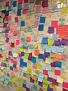 New York: Anti-Trump Post Its adorn the walls of Union Square Station, 13 Nov. 2016