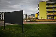 Les nouvelles constructions changent le paysage de la Gruyère. Bulle 2009
