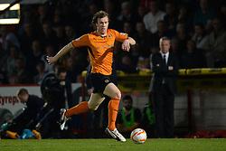 Wolves midfielder Kevin McDonald runs with the ball  - Photo mandatory by-line: Mitchell Gunn/JMP - Tel: Mobile: 07966 386802 01/04/2014 - SPORT - FOOTBALL - Broadhall Way - Stevenage - Stevenage v Wolverhampton Wanderers - League One