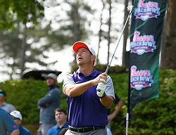 Clemson  head football coach Dabo Swinney during the Chick-fil-A Peach Bowl Challenge Closest to the Pin Skills Competition at the Ritz Carlton Reynolds, Lake Oconee, on Monday, April 29, 2019, in Greensboro, GA. (Dale Zanine via Abell Images for Chick-fil-A Peach Bowl Challenge)