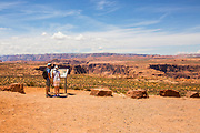 Tourists Hiking on Trail to Horseshoe Bend Overlook