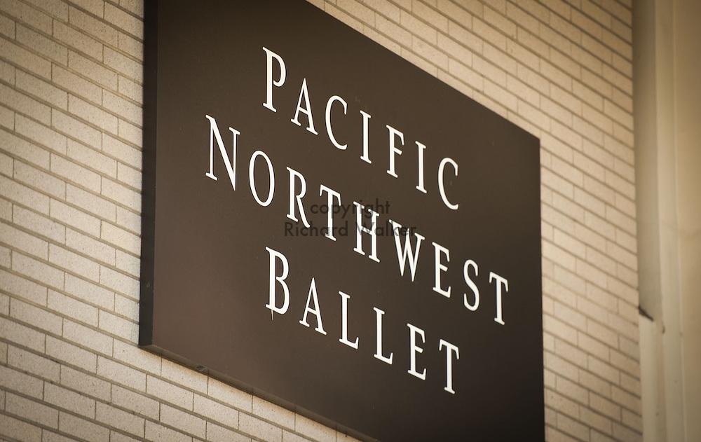 2013 April 16 - Pacific Northwest Ballet sign, Seattle, WA. By Richard Walker