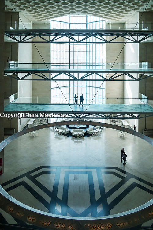 Interior of Museum of Islamic Art in Doha Qatar