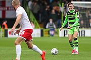 Forest Green Rovers Charlie Cooper(15) on the ball during the EFL Sky Bet League 2 match between Forest Green Rovers and Newport County at the New Lawn, Forest Green, United Kingdom on 14 October 2017. Photo by Shane Healey.