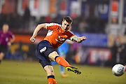 Luton Town player James Collins scores the second goal of the game in the second half during the EFL Sky Bet League 2 match between Luton Town and Barnet at Kenilworth Road, Luton, England on 24 March 2018. Picture by Ian  Muir.