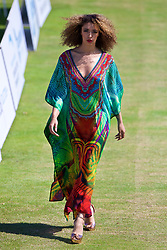 LIVERPOOL, ENGLAND - Saturday, June 17, 2017: Model Lisa Teairra Marie during Day Three of the Liverpool Hope University International Tennis Tournament 2017 at the Liverpool Cricket Club. (Pic by David Rawcliffe/Propaganda)