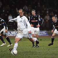 Dundee v St Johnstone....10.02.2007<br /> Paul Sheerin takes his penalty to see it saved by Ludovic Roy<br /> <br /> Picture by Graeme Hart.<br /> Copyright Perthshire Picture Agency<br /> Tel: 01738 623350  Mobile: 07990 594431