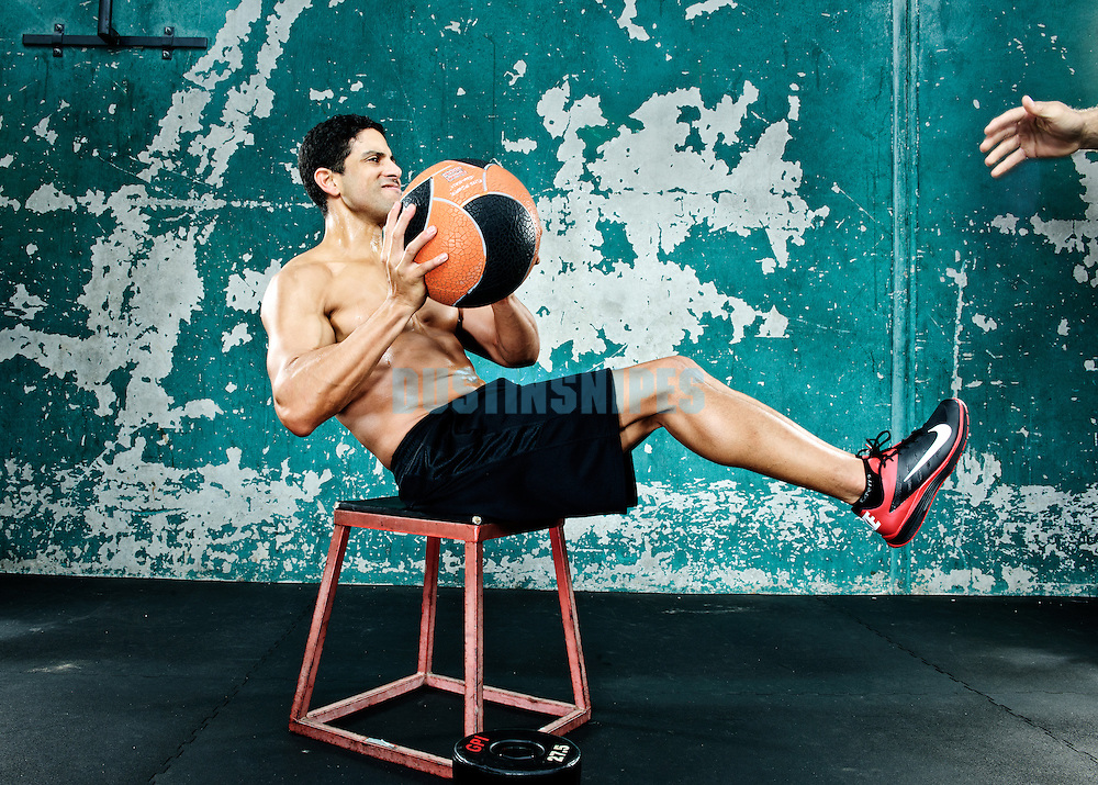 Actor Adam Rodriguez poses for a portrait while working out in Venice CA.