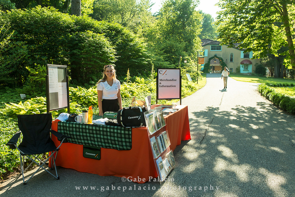 Merchandise table outside of the Rosen House at Caramoor in Katonah, New York on July 10, 2015. <br /> (photo by Gabe Palacio)