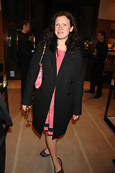 KATIE GRAND at a reception to launch the 2007 Louis Vuitton Christmas windows in collaboration with Central Saint Martins College of Art & Design held at 17-18 New Bond Street, London W1 on 7th November 2007.<br />