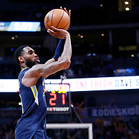 05 April 2018: Denver Nuggets forward Will Barton (5) takes a jump shot during the Denver Nuggets 100-96 victory over the Minnesota Timberwolves, at the Pepsi Center, Denver, Colorado, USA.