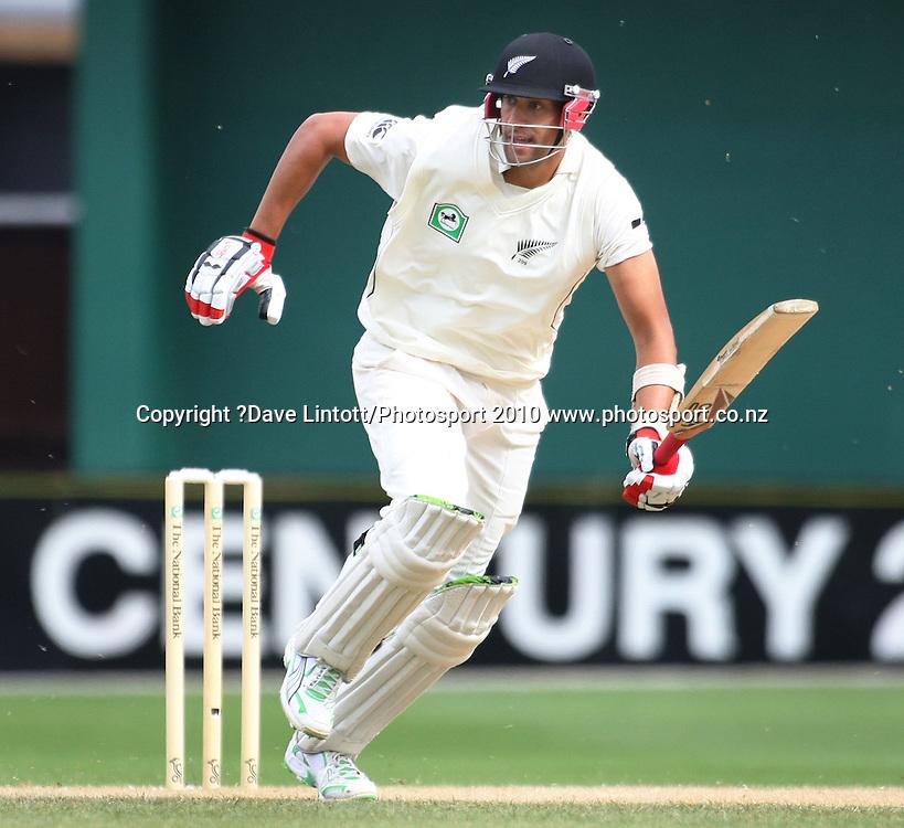 NZ batsman Daryl Tuffey.<br /> 1st cricket test match - New Zealand Black Caps v Australia, day four at the Basin Reserve, Wellington. Monday, 21 March 2010. Photo: Dave Lintott/PHOTOSPORT