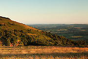 View from near the Triscombe Stone, with part of Wills Neck in the foreground and the Blackdown Hills in the background.