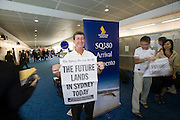 Airbus A380 first commercial flight - Singapore Airlines SQ 380 Singapore-Sydney on October 25, 2007. Arrival in Sydney.