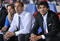 27.09.2011, Stade de Gerland, Lyon, FRA, UEFA CL, Gruppe D, Olympique Lyon (FRA) vs Dinamo Zagreb (CRO), im Bild Dinamo coach Krunoslav Jurcic and Dinamo sports director Zoran Mamic // during the UEFA Champions League game, group D, Olympique Lyon (FRA) vs Dinamo Zagreb (CRO) at de Gerland stadium in Lyon, France on 2011/09/27. EXPA Pictures © 2011, PhotoCredit: EXPA/ nph/ Pixsell +++++ ATTENTION - OUT OF GERMANY/(GER), CROATIA/(CRO), BELGIAN/(BEL) +++++