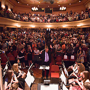 060311 Wilmington DE: Cab Calloway concert playing as the students leave during recessional at Cab Calloway commencement exercise Friday, June 3, 2011 at The Grand Opera House In Wilmington Delaware...Special to The News Journal/SAQUAN STIMPSON