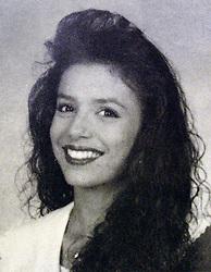 May 01, 1993; Corpus Christi, TX, USA; 'Desperate Housewives' star EVA LONGORIA had fashionably 'big hair' as a senior at Roy Miller High School in Corpus Christi, Texas in 1993. (Credit Image: © Courtesy Roy Miller High School/ZUMAPRESS.com)