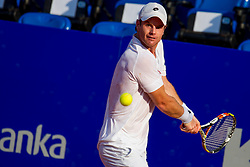 Blaz Kavcic (SLO) during a tennis match against the Andrey Rublev (RUS) in first round of singles at 26. Konzum Croatia Open Umag 2015, on July 22, 2015, in Umag, Croatia. Photo by Urban Urbanc / Sportida